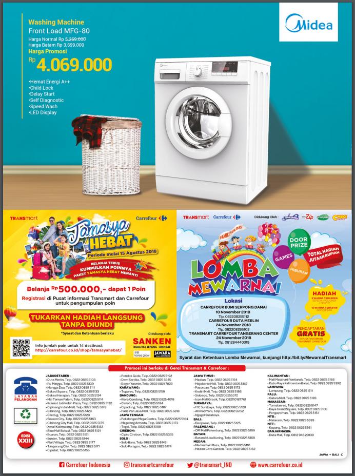 Katalog Pesta Promo Keluarga Transmart Carrefour November 2018