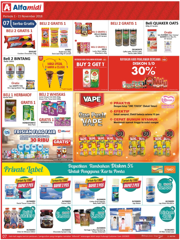 Katalog Promo Alfamidi Periode 1-15 November 2018