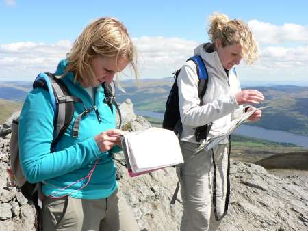 On the 1 day summer navigation course