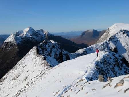 Winter walking on Beinn Eghe, Torridon, Scotland