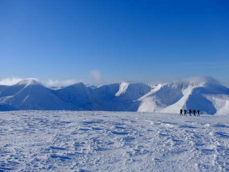 Snowshoeing on the Cairngorm plateau