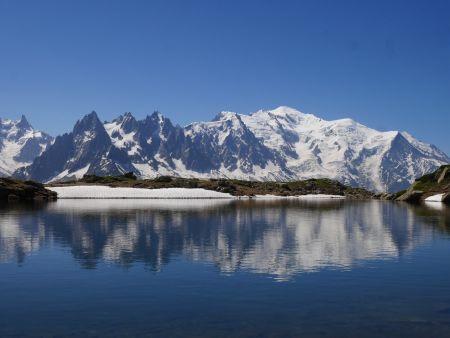 Mont Blanc from the Tour du Mont Blanc