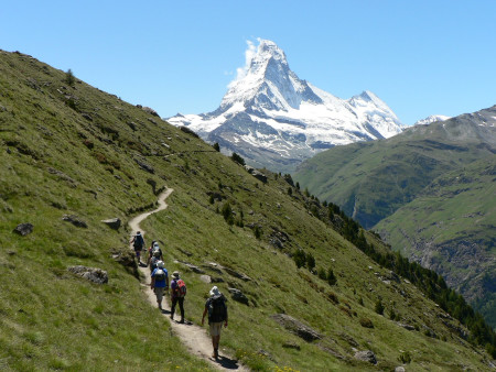 Matterhorn view from the Walkers Haute Route