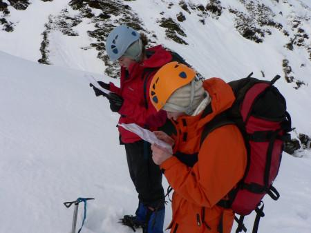 Map reading and winter navigation skills