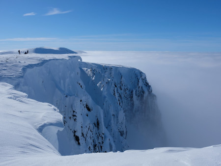 Temperature inversion on the Cairngorm ridges