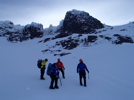 Basic use of crampons in winter conditions