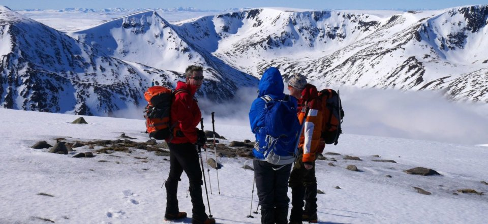 Mountain guiding in the Cairngorms