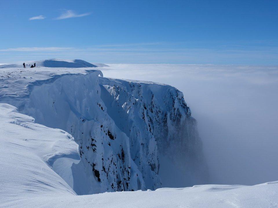 Winter skills in Scotland - The Cairngorm cliffs in winter