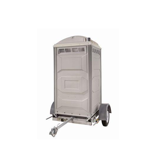 Trailer mounted portable restroom