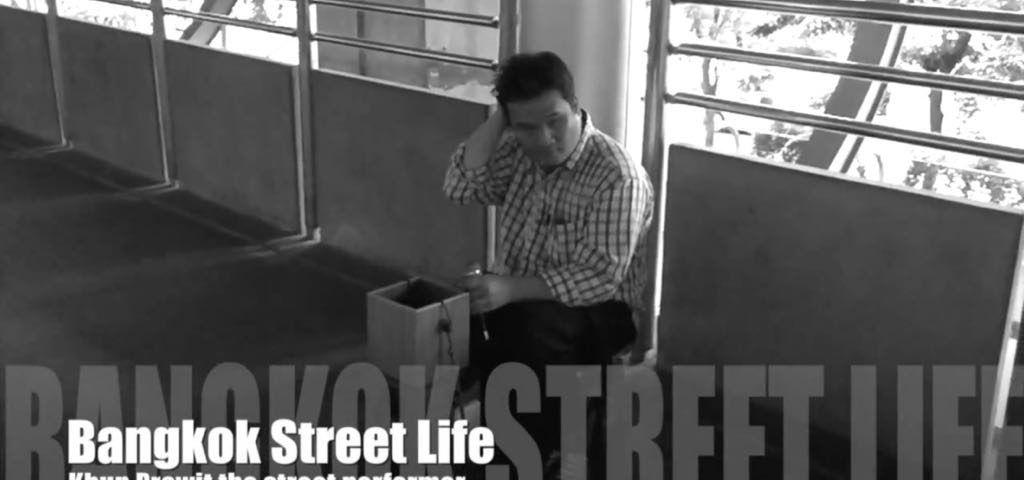 Khun Prawit the street performer