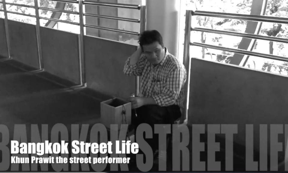 Khun Prawit the street performer
