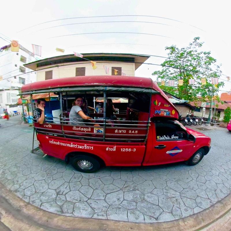 Follow Me Bangkok tours songthaew