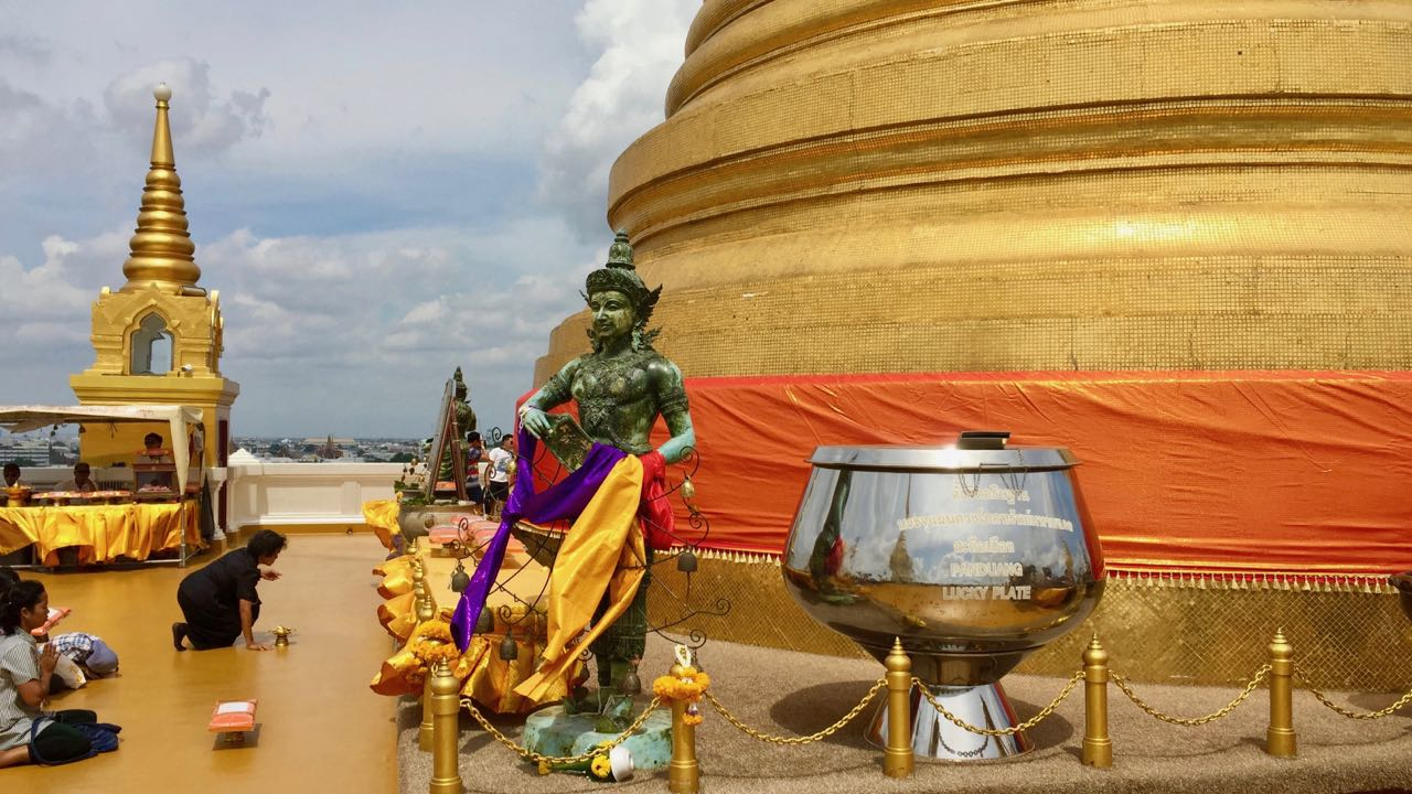 View of the chedi at the Golden Mount in Bangkok