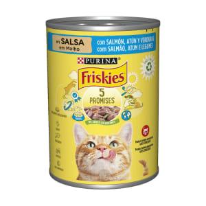 Comida Húmida Gato com Salmão, Atum e Legumes Purina Friskies