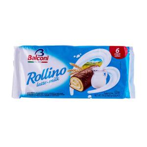 Bolo Snack Rollino com Leite Balconi 6 un