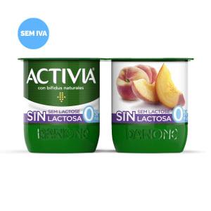 Iogurte sem Lactose com Pêssego 0% Activia