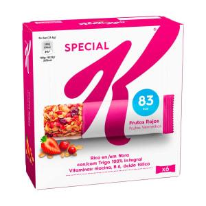 Barras de Cereais de Frutos Vermelhos Special K Kellogg s