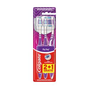 Escova de Dentes Colgate Zig-Zag Média