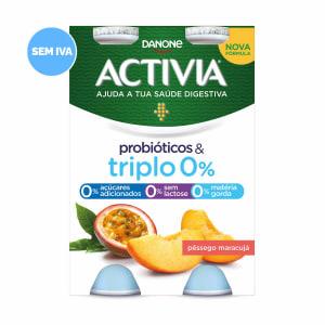 Iogurte Líquido Pêssego e Maracujá 0% Activia