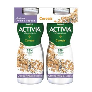 Iogurte Líquido de Cereais Quinoa, Aveia e Papoila Activia
