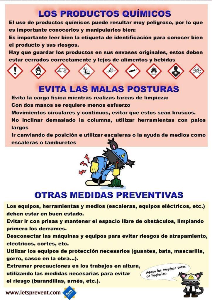 Ficha informativa personal de limpieza (2) Let's Prevent! - Nuevas Fichas informativas para imprimir: Personal de limpieza