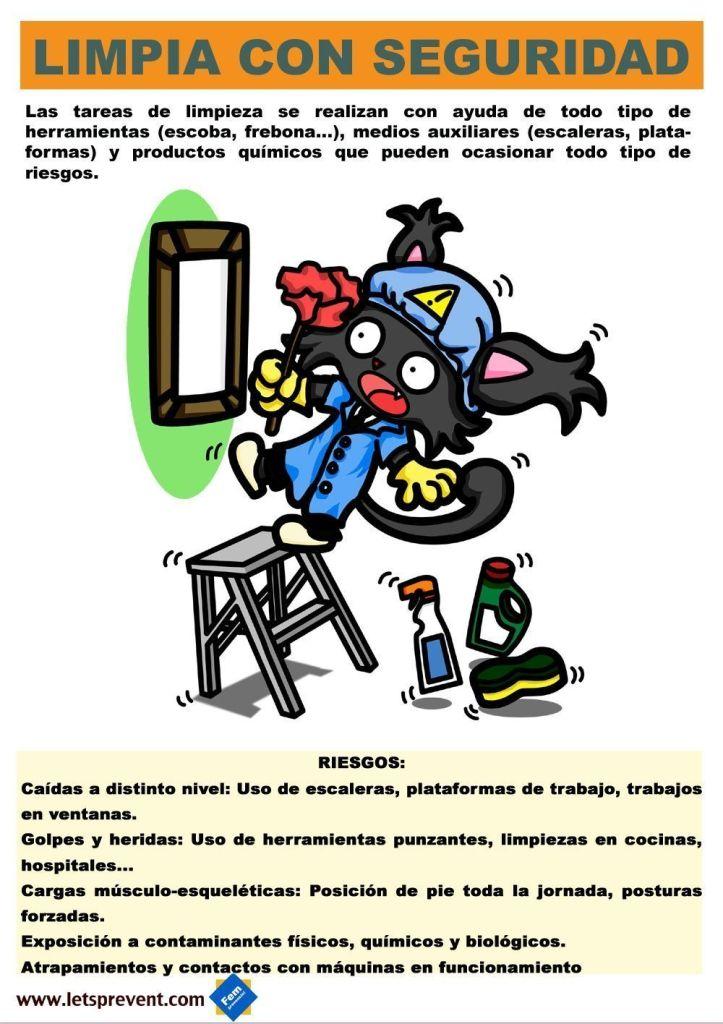 Ficha informativa  limpieza Let's Prevent! - Nuevas Fichas informativas para imprimir: Personal de limpieza