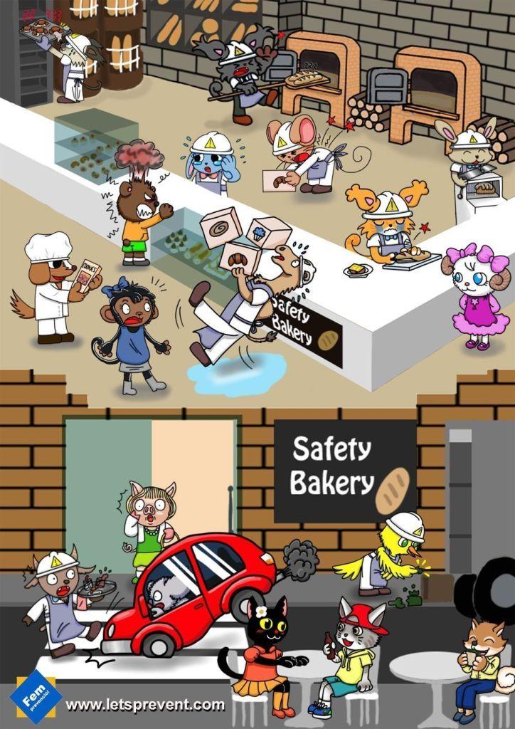 safety bakery Let's Prevent! - Encuentra los riesgos en la panadería