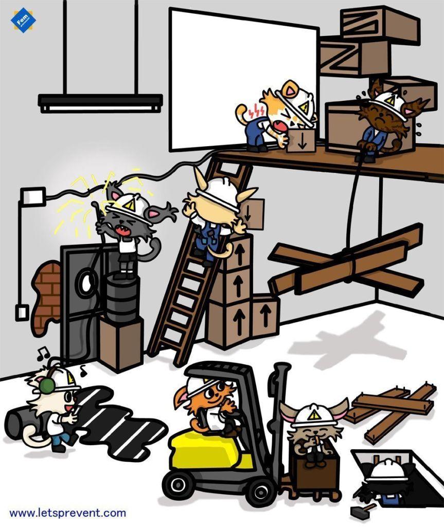 safety encuentra los riesgos Let's Prevent! - Encuentra los 19 Riesgos en el almacén
