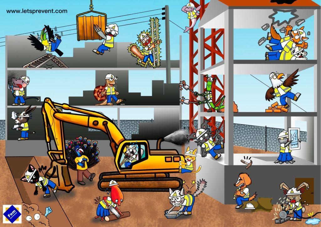 Let's Prevent! - Encuentra los riesgos en la construcción