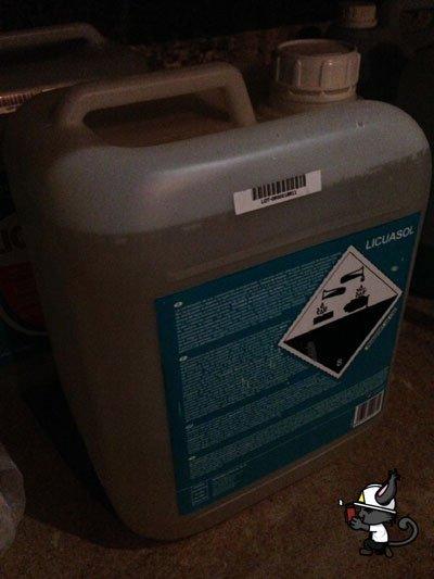 correcto etiquetado productos químicos