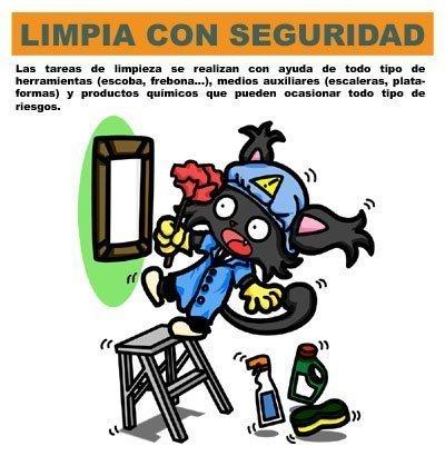 Let's Prevent! - Nuevas Fichas informativas para imprimir: Personal de limpieza