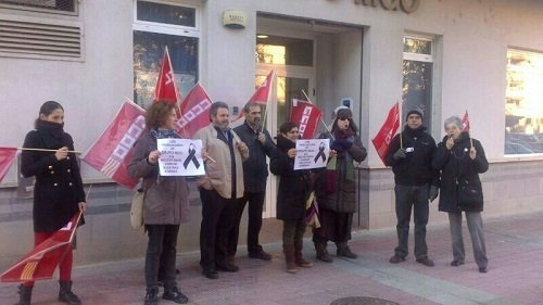 Trabajadores MGO Zaragoza en protesta Let's Prevent! - Tercera semana de protestas de los trabajadores de Grupo MGO