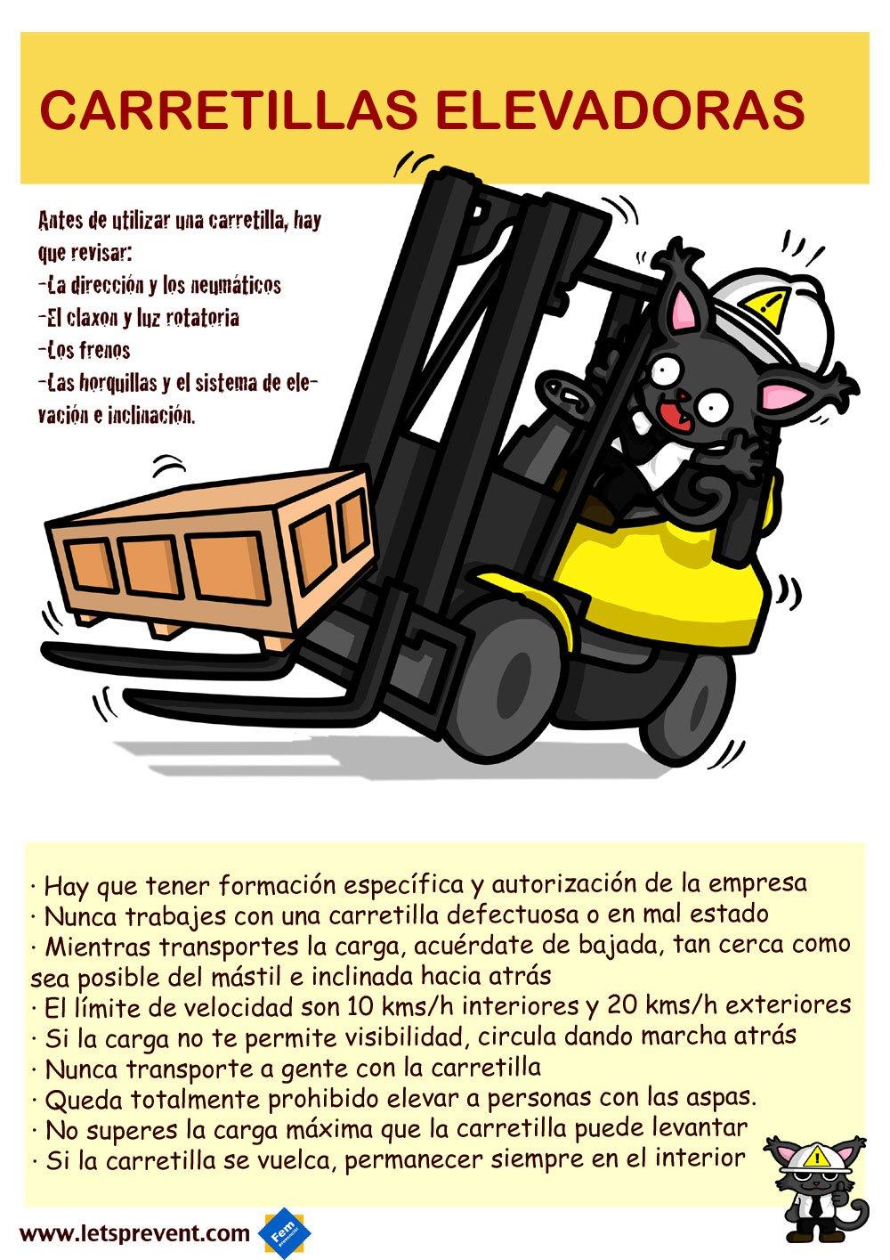 Ficha informativa carretillas elevadoras Let's Prevent! - Vídeo: Mejor dos carretillas que una