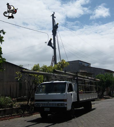 trabajo eléctrico en altura