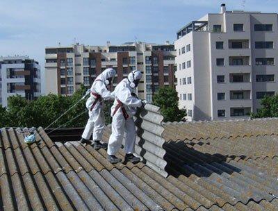 riesgos trabajos con amianto