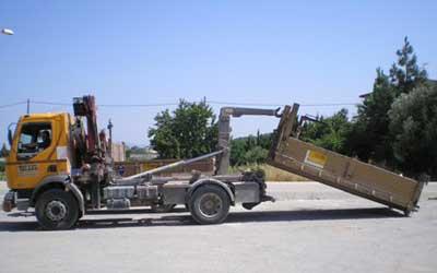 ejemplo de camión porta contenedores