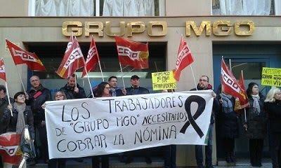 Trabajadores MGO Barcelona en protesta