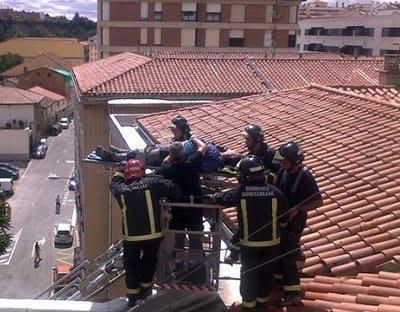 accidente caída de altura Burlada