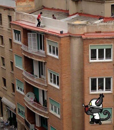 Ejemplo de riesgo de caída de altura