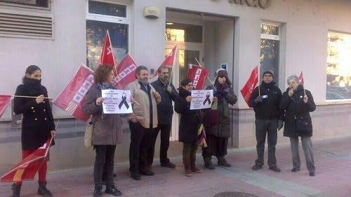 Trabajadores MGO Zaragoza en protesta