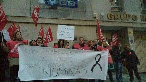 Trabajadores MGO Madrid en protesta
