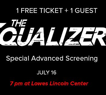 Get 1 Pair of Free Tickets to Equalizer 2 screening