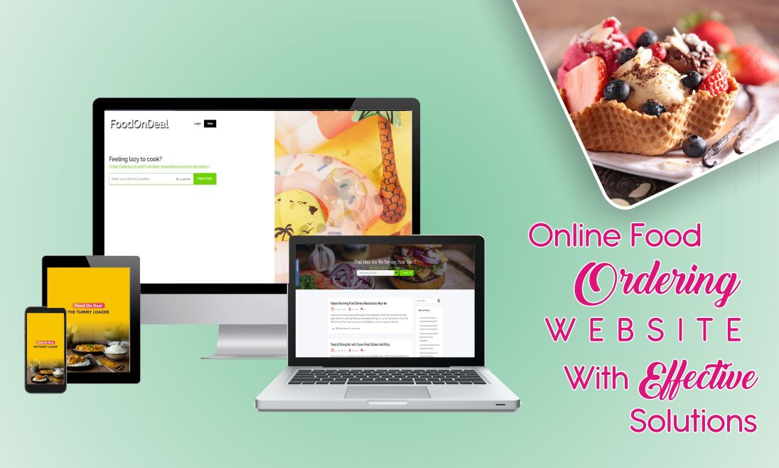 online food ordering website with effective solutions