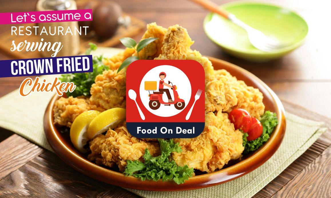restaurant serving crown fried chicken