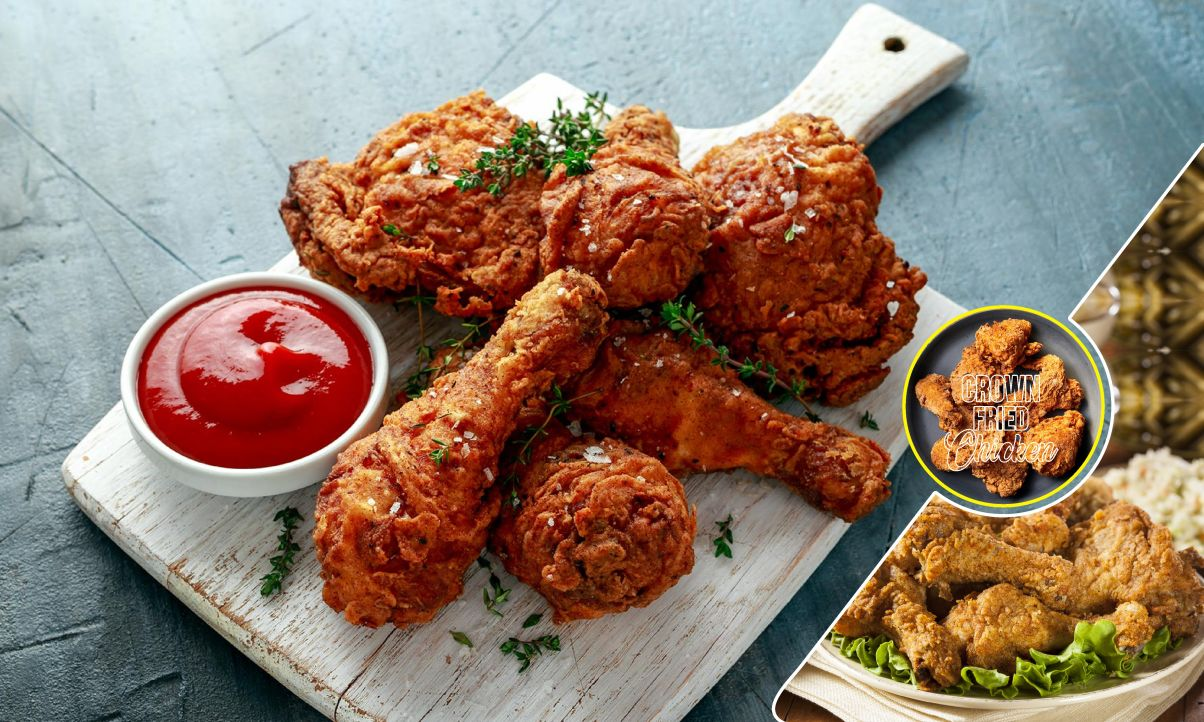 crown fried chicken with crispy legs in brooklyn