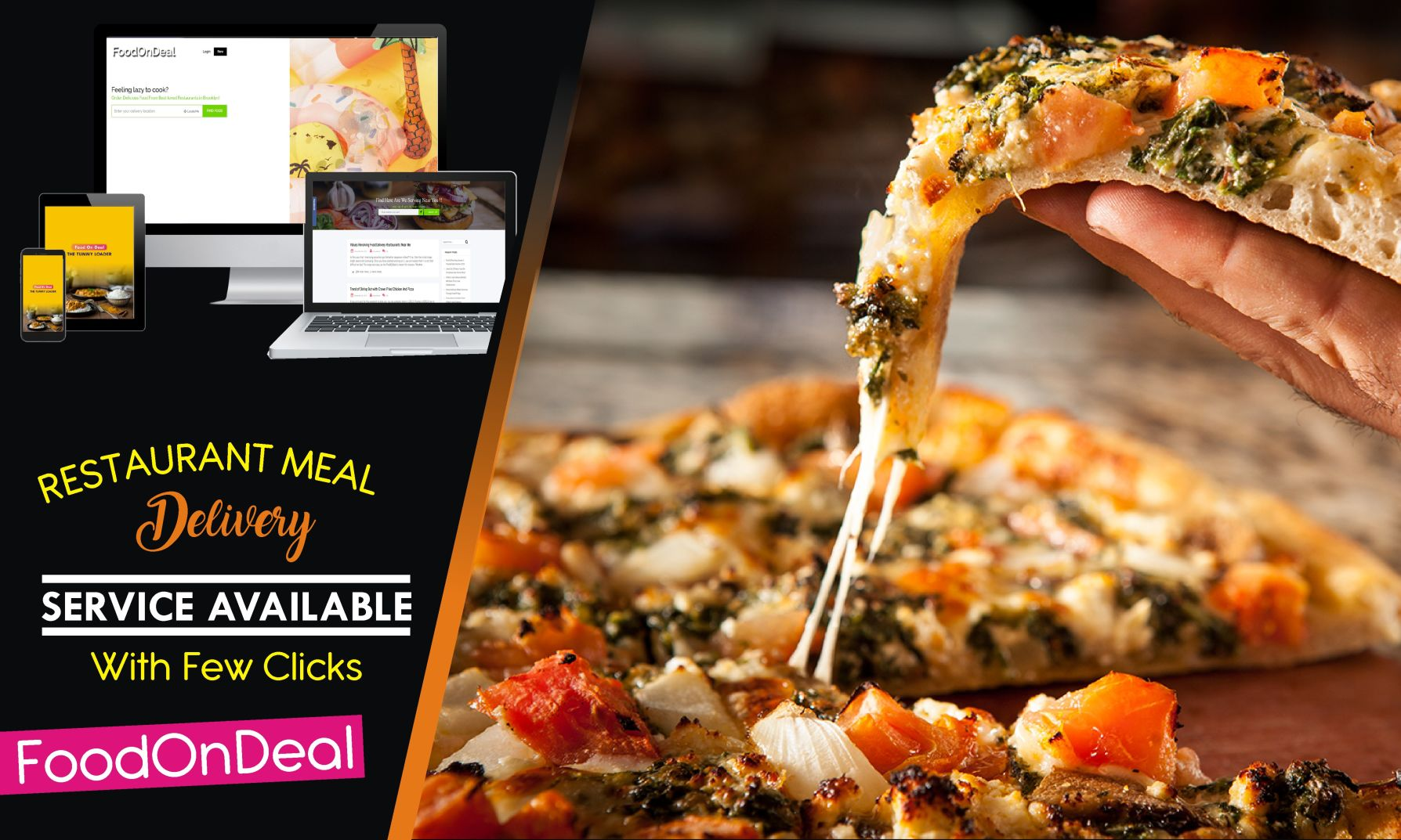 restaurant meal delivery services available with few clicks foodondeal