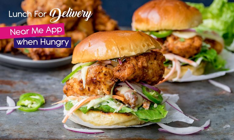 Lunch For Delivery Near Me App When Hungry