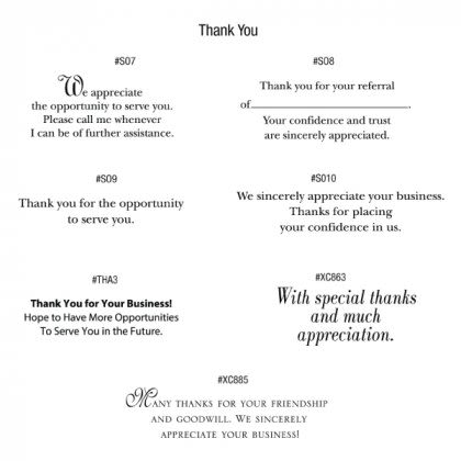 Premium Corporate Thank You Cards With Debossed Gold Foil Design