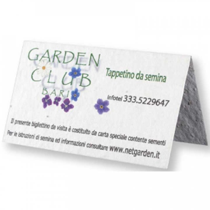 Seed Paper Tent Business Card Promotional Eco Friendly Business Cards
