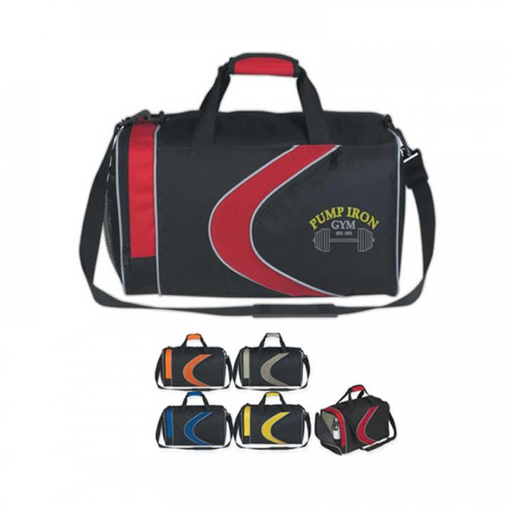 Sports Duffel Bag Promotional Custom Imprinted With Logo cc67f96486b75